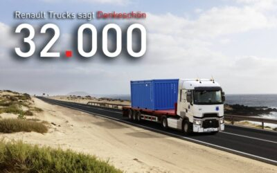 Our trucks in a Renault ad