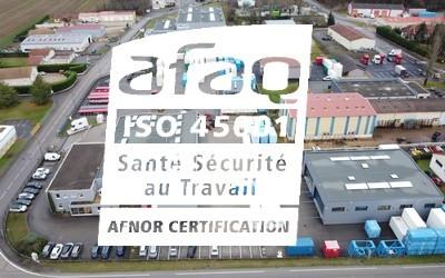 EM2S 38 CERTIFIÉE ISO 45001 PAR L'AFNOR DEPUIS JANVIER 2021